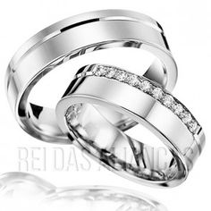 Alianças Chapa Reta de Prata - Luxo Wedding Band Sets, Wedding Ring, Marriage, Engagement Rings, Bae, Jewelry, Design, Cushion Wedding Bands, Estate Engagement Ring