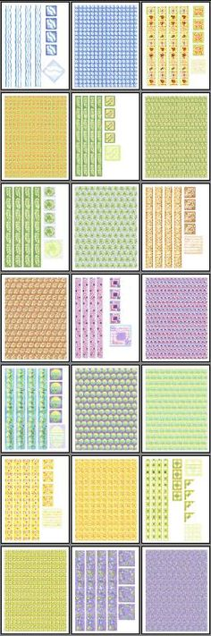 Free Printable Scrapbook Borders !