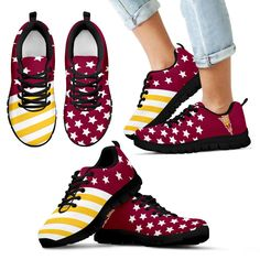America Flag Full Stars Stripes Arizona State Sun Devils Sneakers – Best Funny Store