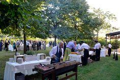 Buffet di aperitivo in giardino. Corte Dei Paduli - Wedding Location - Reggio Emilia, Italy.