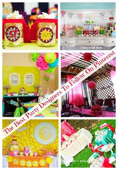 Best Party Designers on Pinterest #PartyPlanning