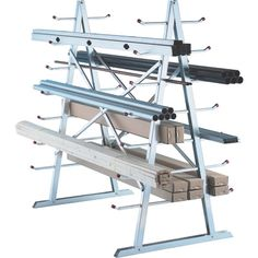 West Horizontal Storage Rack — 5ft. x 3ft. x 5 1/2ft. Size-From Northern Tool & Equipment- or make your own- http://www.instructables.com/id/Build-a-lumber-storage-rack-out-of-fencing-scraps/
