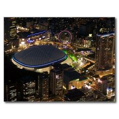 Postcard Tokyo Dome by night, Tokyo, Japan Cartes Postales