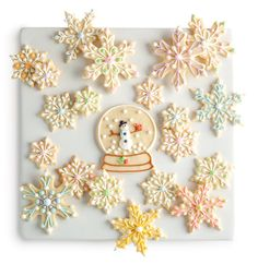 Snow Flake cookies I don't know if I can do this but I want to!