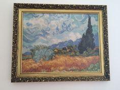 Gobelin Wheat Fields with Cypresses Van Gogh