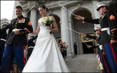 Links to a blog with great ideas for a wedding when you have Marines in uniform participating