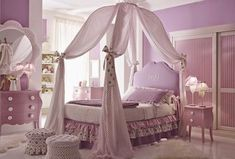 Girls Canopy Bedroom Set - Home Furniture Design Bed Sets, Canopy Bedroom Sets, Bedroom Ideas, Diy Canopy, Wooden Canopy, Bedroom Pics, Bed Canopies, Ikea Canopy, Canopy Curtains