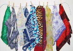 Vintage Scarves Exotic to by CheekyVintageCloset on Etsy, $28.00