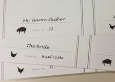 This Free Font For Your Wedding Place Cards To Indicate Guests Meal Choices The Caterer
