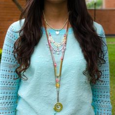 Collar Largo Estrellas Blancas www.dulceencanto.com accesorios para mujer collares accesorios