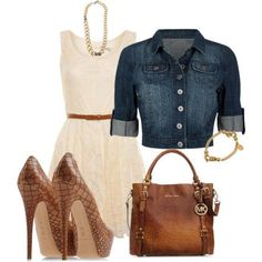 Very cute...with shorter heels, though! Maybe even cute little brown sandals.