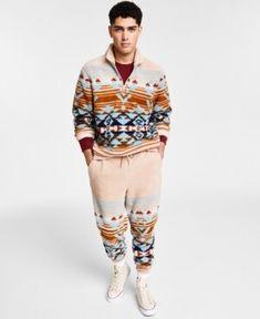 Sun + Stone Men's Desert Snow Sherpa Sweater, Created for Macy's Desert Snow, Sherpa Sweater, Teen Boy Fashion, Sweaters, Silhouette, Sun, Stylish, Boys, Pattern