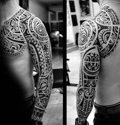 Shoulder Tribal Tattoo For Men