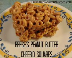 Reese's Peanut Butter Cheerio Squares With Butter, Cheerios, Marshmallows, Peanut Butter