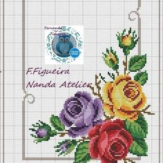 No photo description available. Cross Stitch Heart, Cross Stitch Borders, Modern Cross Stitch Patterns, Cross Stitch Flowers, Cross Stitch Designs, Cross Stitching, Der Computer, Hand Embroidery Stitches, Afghan Crochet Patterns