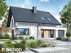 Projekt domu Dom w zdrojówkach - ARCHON+ Steel Frame House, Bamboo House, Wood Pallet Furniture, Micro House, Dream House Plans, Facade House, Pool Houses, Coastal Homes, Simple House
