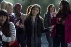 Lilly (Hana Mae Lee), Fat Amy (Rebel Wilson), Cynthia-Rose (Esther Dean), Beca (Anna Kendrick), Stacie (Alexis Knapp) ~ Pitch Perfect (2012) ~ Movie Still #amusementphile