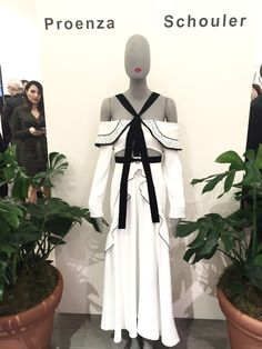 Stunning white dress - Being so inspired by Proenza Schouler at The Room at The Bay.