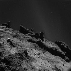 Adjusted Philae's background lighting - stars and Milky Way visibile