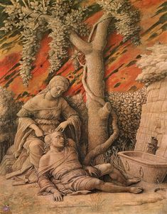 Andrea Mantegna - Samson and Delilah, c. 1500