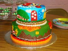 mario brothers cake @kimberly Adam