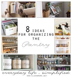 Pantry chaos driving you bonkers? Check out these fantastic ideas to bring order to your pantry chaos.