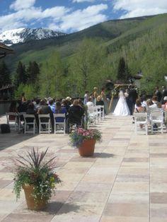 #vail racquet club mountain wedding #mountain view ceremony