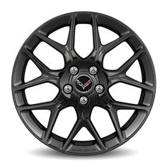 Corvette Stingray Front Wheel, Black, 19 inch, 5YX:This 19 inch racing inspired black painted aluminum front wheel is the perfect choice for the Corvette enthusiast. It offers the right look, stance and custom appearance with the assurance of a build and design validated to GM specifications.