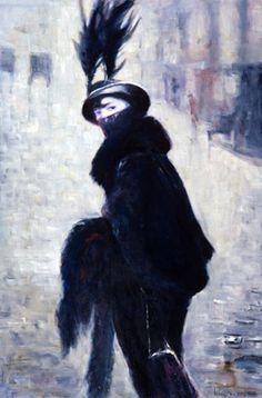 """Lusia Popenko: """"Stranger"""" 120 x 90 sm, oil, canvas, 2004"""