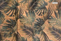 JUNGLE LEAF Print cork fabric - best available - Made in Portugal - Choose Size, textile quality, USA Seller - New Arrivals - Cork Fabric - Tailoring & Sewing Cork Fabric, Leaf Prints, Paisley Print, Textiles, Leaves, Sewing, Portugal, How To Make, Color