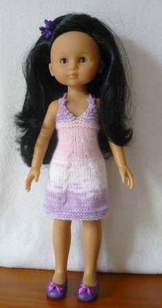 Robe dos nu pour poupée Chérie (Adaptation du modèle de Nathalie  du blog « Histoires de Poupées »  du 12/09/2013): 1) http://marieetlaines.canalblog.com/archives/2016/09/13/34153313.html 2) http://p7.storage.canalblog.com/76/00/1066432/111916635.pdf