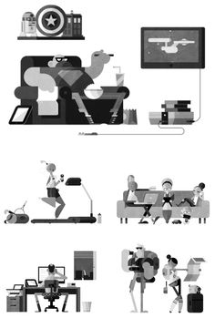 Animated illustrations for Wired Italia's iPad app by Robin Davey