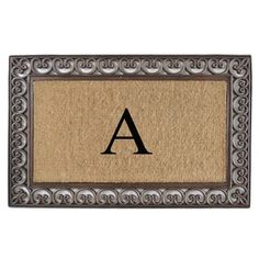 Shop for First Impression Natural/ Brown Rubber/ Coir Classic Paisley Border Extra-large Doubledoor Monogrammed Doormat. Get free delivery at Overstock.com - Your Online Home Decor Shop! Get 5% in rewards with Club O! - 18811699