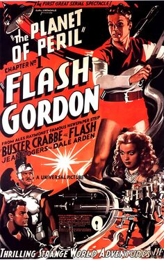 Flash Gordon. Space Age. http://revivalvintagestudio.blogspot.ca/  #scifi #movieposters #vintage