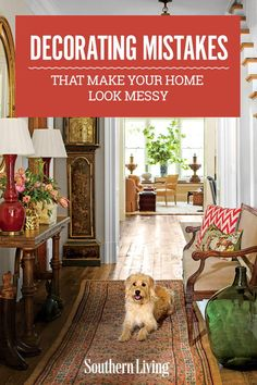 Decorating Mistakes That Make Your Home Look Messy | So to help you conquer the nuance and nitty-gritty of organized home design, we've corralled some do's and don'ts, and photos of particularly beautiful, orderly rooms. For even more inspiration and how-to's, check out our small space organizing tips. #decorideas #homedecor #southernliving