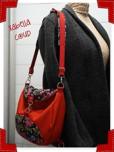 Limbo rouge cousu par Xabella Limbo, Sewing, Knitting, Crochet, Pattern, Creative, Ideas, Fashion, Satchel Handbags