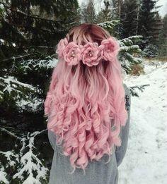 Hair Dye Colors, Cool Hair Color, Rose Braid, Curly Hair Styles, Natural Hair Styles, Dye My Hair, Crazy Hair, Rainbow Hair, Rainbow Pastel