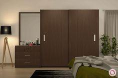 7 Diverse Wooden Wardrobe Designs To Choose From Wall Wardrobe Design, Sliding Door Wardrobe Designs, Wardrobe Interior Design, Bedroom Closet Design, Bedroom Furniture Design, Home Room Design, Wooden Wardrobe Designs, Wardrobe Designs For Bedroom, Wardrobe Wall