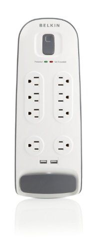 Belkin 8 Outlet Surge Protector with USB Computer Accessories, Usb, Power Strips, Dorm, College, Tech, Amazon, Random, Technology