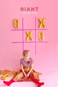 Valentine's Day Giant Tic Tac Toe   Oh Happy Day!