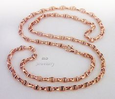 HS 18K Rose Gold Men's Marine Link Chain 4.5mm wide, 22/24 inches (Hollow)