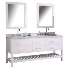 "Found it at AllModern - Halcomb 72"" Double Bathroom Vanity Set with Mirror"
