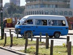 A fast way to get around in Lusaka, Zambia, is the minibus or the taxi