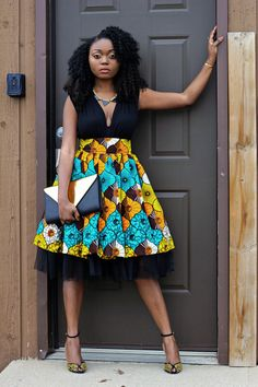 Ankara african print skirt. Watch the tutorial on youtube on how to make this skirt https://www.youtube.com/watch?v=qXl1CDlHMW4