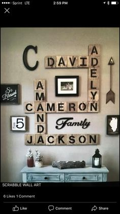 Love the rustic look to it! Scrabble Wall Art, Gallery Wall, Rustic, Frame, Diy, Home Decor, Ideas, Country Primitive, Picture Frame