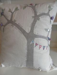 Handmade Personalised Family Tree Cushion £40.00