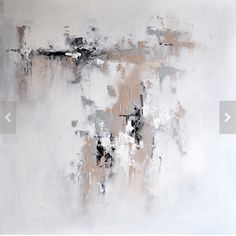 Abstract painting white and grey colors