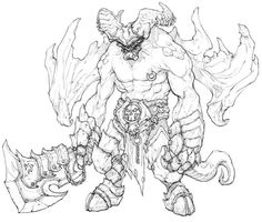 View an image titled 'Monster Sketch' in our Darksiders II art gallery featuring official character designs, concept art, and promo pictures. Creature Concept Art, Creature Design, Comic Kunst, Comic Art, Character Drawing, Character Concept, Sketch Video, Dungeons And Dragons, Monster Sketch