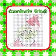 Grinch Coordinate Graphing Fun! - Ordered Pairs, Blank Grid, all 4 Quadrants from Mathematic Fanatic on TeachersNotebook.com (4 pages)  - Grinch Coordinate Graphing Fun! - Ordered Pairs, Blank Grid, all 4 Quadrants