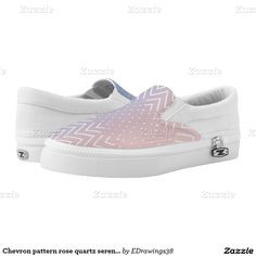 #Chevron #pattern #rosequartz #serenity ombre design printed #shoes